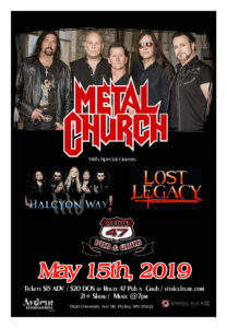 Metal Church w/Hex Vortices & Gracepoint -Route 47 | Fridley, MN