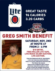 Greg Smith Benefit