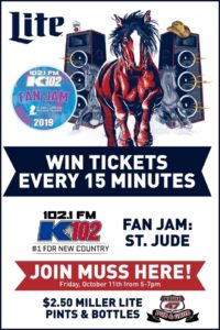 K102 Muss Ticket Giveaway @ Route 47 Pub & Grub
