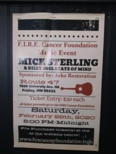 F.I.R.E. Cancer Foundation Music Event featuring Mick Sterling